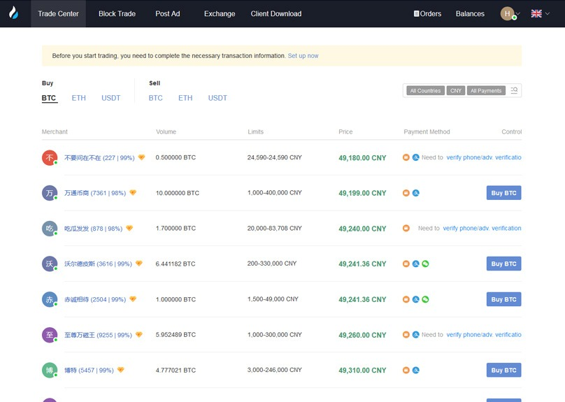 Huobi Review Over The Counter OTC