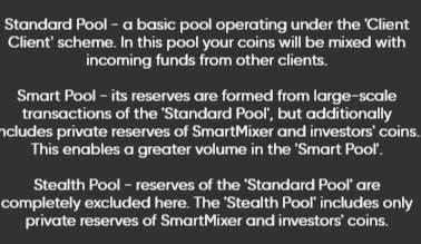 SmartMixer.io Bitcoin Mixer Pools