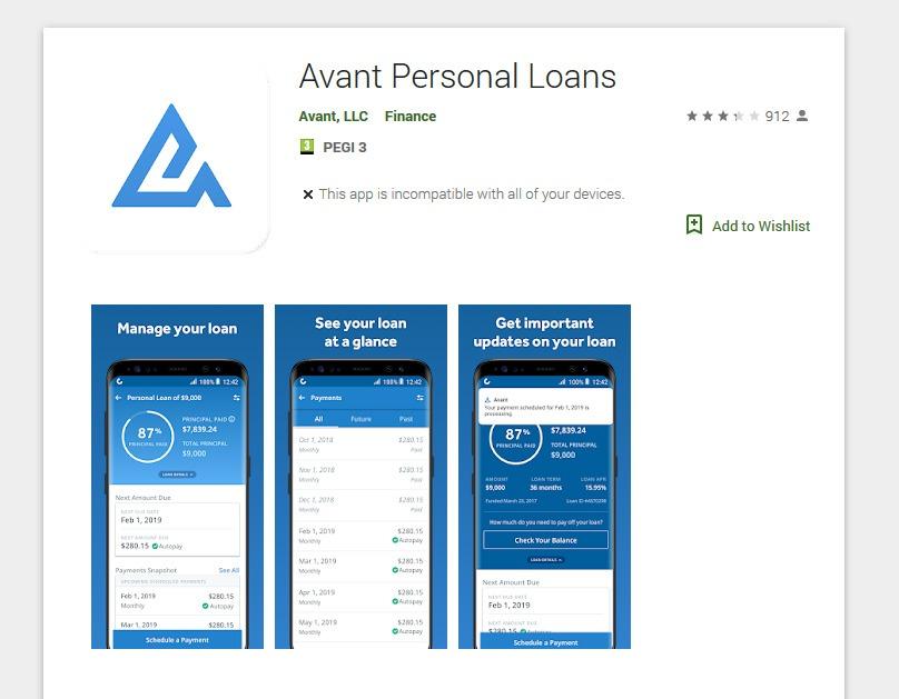 Avant Loans Mobile App