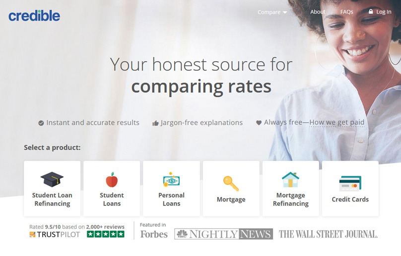 Credible Review Compare Online Rates for your Loan
