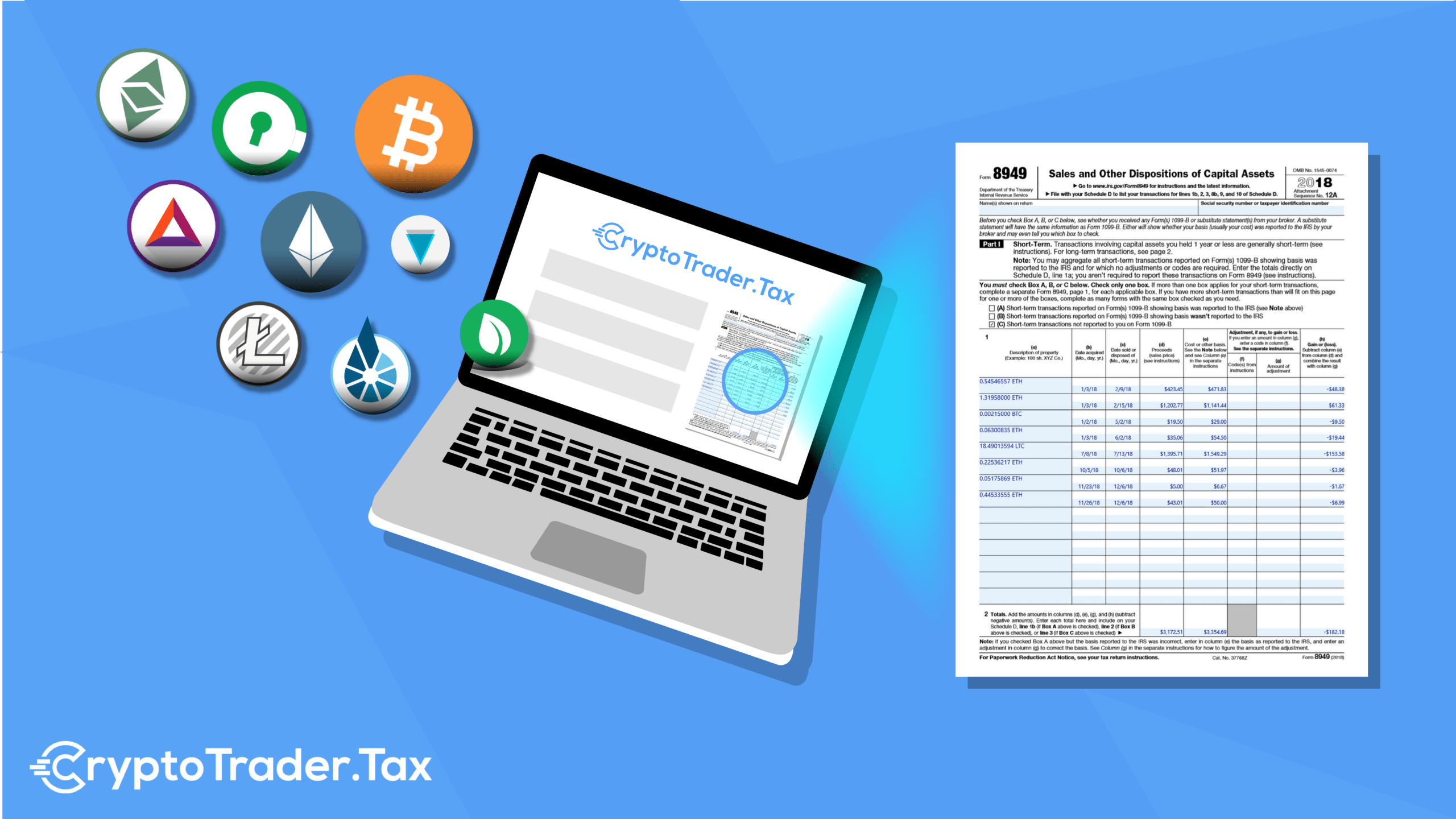 how to complete 8949 taxact cryptocurrency