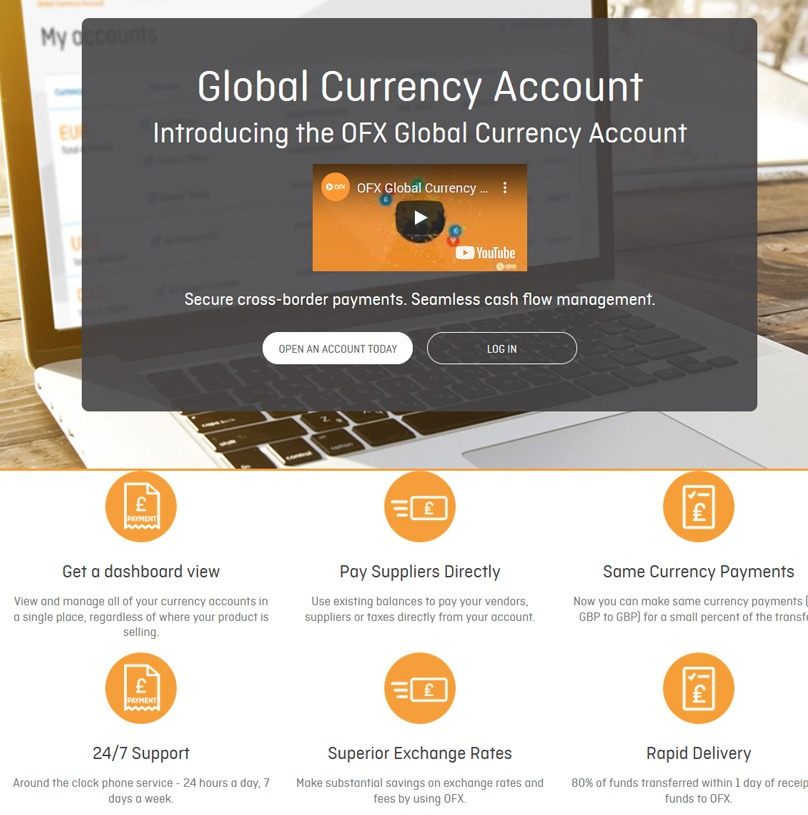Currency Money Transfer Account
