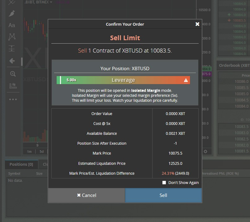 Leverage at BitMEX