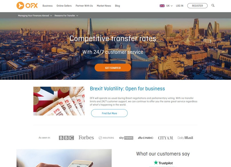 OFX Review Money Transfer Service to Send Funds WorldWide
