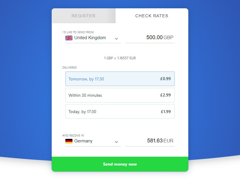 TransferGo Fees and Exchange Rates