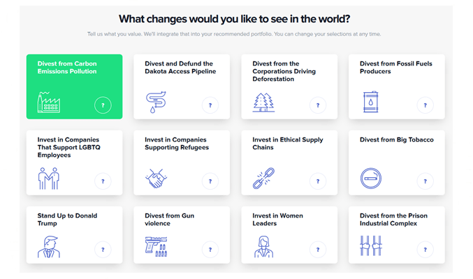 Openinvest Divest Options OpenInvest Review 2020 – Socially Responsible US Robo Advisor