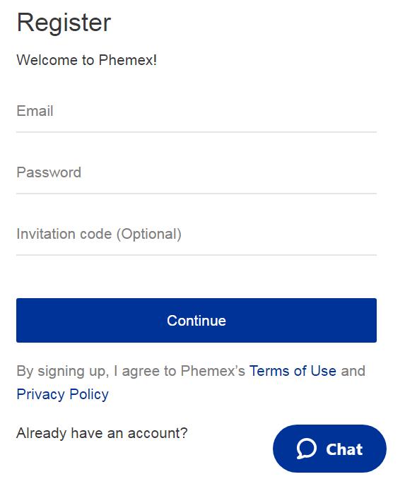 Phemex Registration Guide