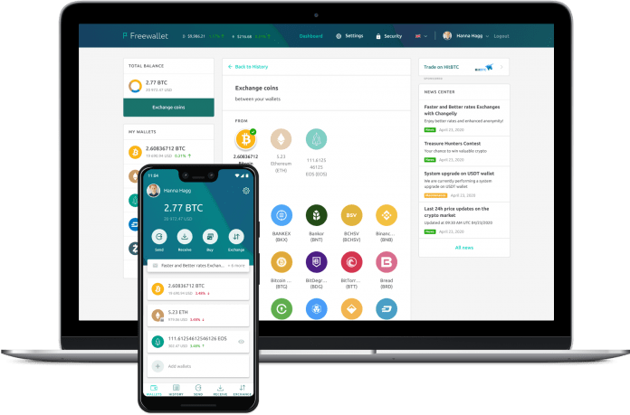 Freewallet the most popular wallet platforms for crypto has just significantly bolstered its exchange capabilities. Instant fee free