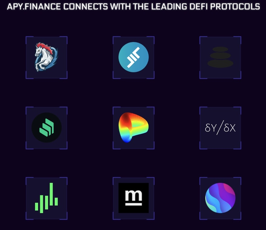 APY.Finance allows users to connect with major DeFi protocols