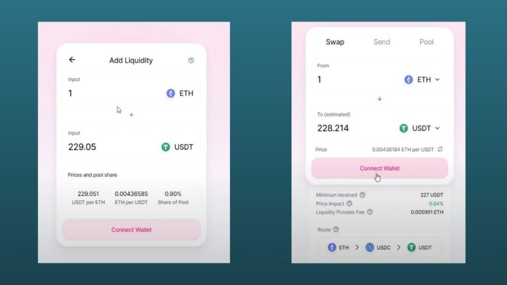 Adding liquidity to pools allows you to earn provider fees when other people do swaps