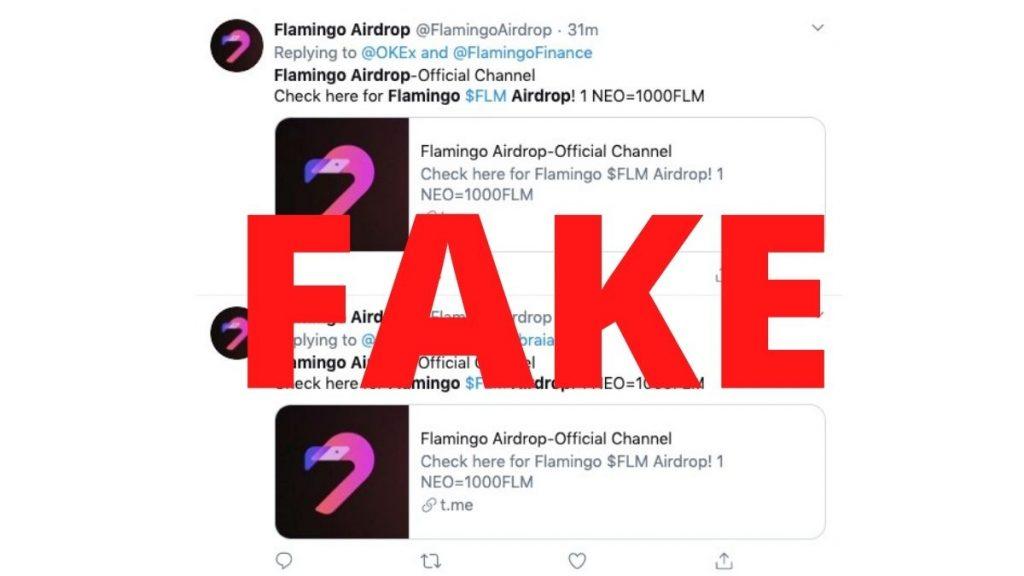Fake Flamingo Finance account