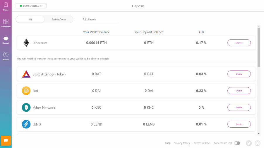 Interest generating tokens